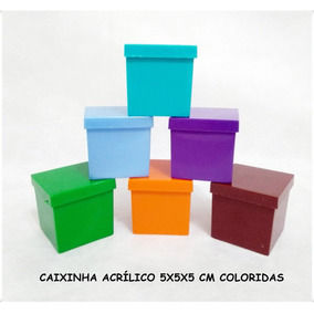 100 Caixinha De Acrilíco 5x5 Cores Sólidas