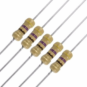 Kit 10 X Resistor 470 Ohm 5% 1/4w 0,25w Leds 5mm Arduino Pic