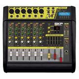 Mezcladora Potenciada 6 Canales Skp Pro Audio