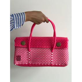 Bolsa Para Dama Tipo Clutch De Plástico Lisa Varios Colores