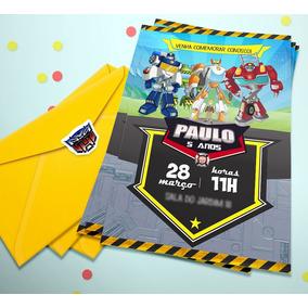 Convite Aniversario Infantil Personalizado Transformers Festas No