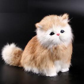 Gato Pelúcia Som Miado Mia Filhote Pet