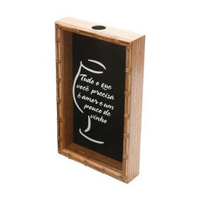 Quadro Porta Rolha De Vinho Bambu Tudo O Que Você Precisa É
