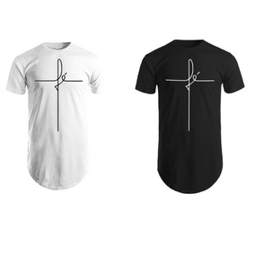 Kit Com 2 Camiseta Blusa Camisa Masculina Comprar Longline