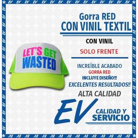 Gorra Personalizada Red Con Vinil Textil Mate (12 Gorras)