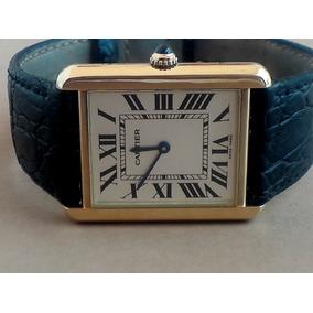 7c82d5c34e7 Relógio Cartier Ouro 18k Coroa De Safira Azul Ac Trocas - Relógios ...