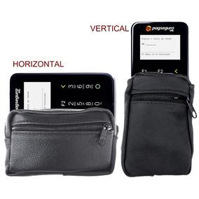 Mini Pochete De Cinto Case Em Couro Porta Moderninha Wi-fi