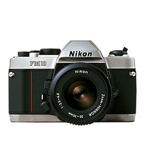 Camera,maquina Nikon Fm10 Kit C/ Zoom 35-70 - Nova