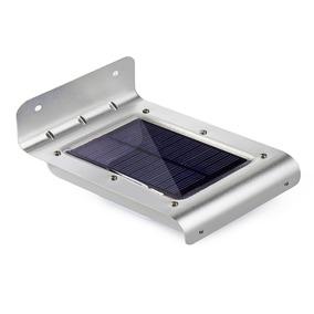 Kit C/ 3 Luminária Solar 16 Leds Com Sensor De Movimento
