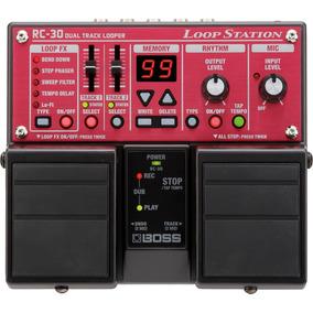Pedal Boss Rc 30 Loop Station Guitarra Voz Looper Rc30