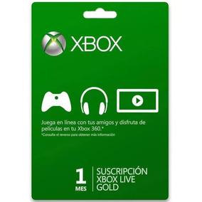 Tarjeta Suscripción Digital Licencia Xbox Live 1 Mes Gold