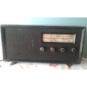 Rádio Anos 50 Valvulado Duas Faixa Am Sw Funcionando Madeira
