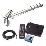 Kit Decodificador Tda Hd + Antena Super Yagi 1.55 Mt + 10mts