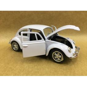 Miniatura Fusca 1967 Branco Rodas Esportiva