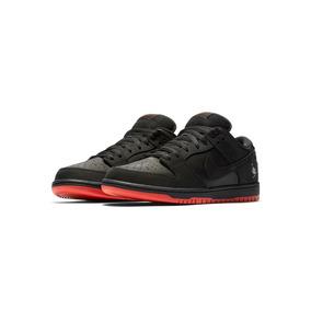 new style 45ec5 97e87 Zapatillas Nike Dunk Sb Low Pigeon Negro Rojo Nuevo 2017
