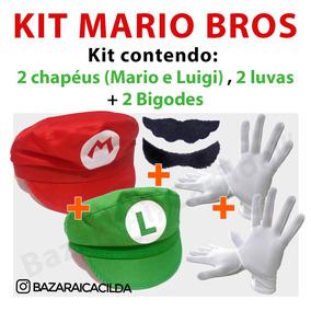 Chapeu Mario - Brinquedos e Hobbies no Mercado Livre Brasil 031e70452e8