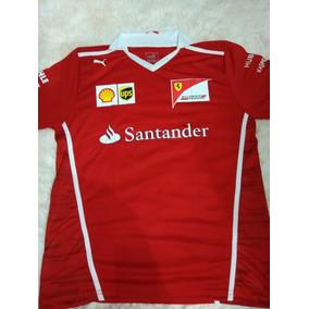9fbb9b3607 Camiseta Camisa Ferrari Santander Masculina