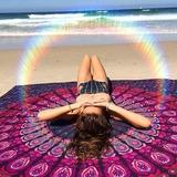 Colcha Indiana Casal Queen Tecido Praia Painel Canga Cortima