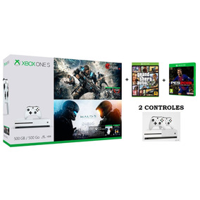 Xbox One S 500gb Gears Of War Halo 5 Pes19 Gta V 2 Controles