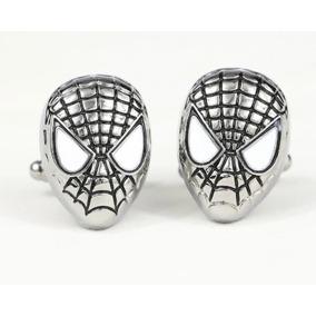 Mancuernillas Spiderman Plateado Gemelos Camisas Envío Grayi