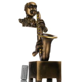 Decoración Para El Hogar Jazz Saxophone Jugador Estatua Con