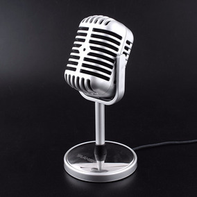Mini Microfone Retrô Computador Estéreo Estúdio Clássico Pc