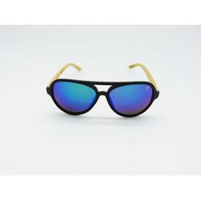 Óculos De Sol Vezatto Preto Bambu Espelhado 540917bm d4f178df17