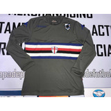 Camiseta Alternativa De Sampdoria Manga Larga Gris Unicaaa 583b2358222f4