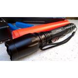 Lanterna Tática Swat Led T6 108000w 2 Baterias Original Nova