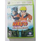Naruto The Broken Bond Xbox 360 Trqs Sasuke Sakura Kakashi