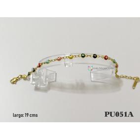 Pulsera Ojitos Multi 4mm Acero Dorado