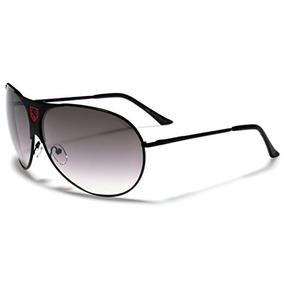 Plateado Marca Forever 21 Gafas Mujer Aviador Marco Negro - Ropa y ... 8ad448159d05