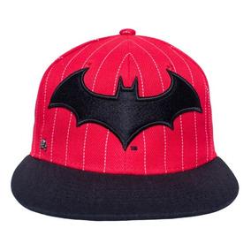 Gorra Logo Batman Arkham Besibol Rojanegra Original Dc Comic
