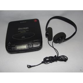 Antigo Discman Sony + Fone De Ouvido Funcionando