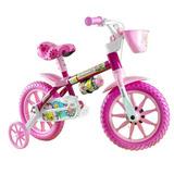 Bicicleta Infantil Aro 12 Selim Pu Flower Nathor