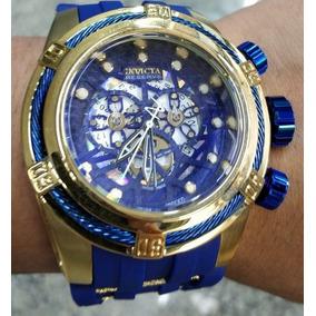 e98d52d51ad Relogio Invicta Dourado Masculino Fundo Azul - Relógios De Pulso no ...