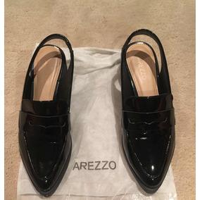 621676737b Sapato Preto Mocassim Feminino Arezzo - Sapatos no Mercado Livre Brasil