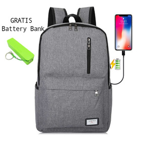 Mochila Usb Impermeable +battery Bank Regalo