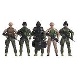 Elite Force Navy Seals Figura De Accion 5-pack Con Bonus Hal