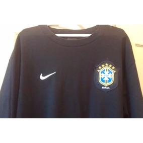 Camisa Importada Nike Oficial Preta Customizada Escudo Cbf