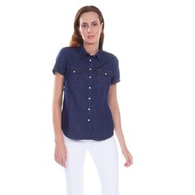 20ec8942bd4a3 Camisa Levis Larissa Western Azul Marinho