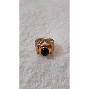 Anel Ouro 18k (relíquia) Com Pedra Preta