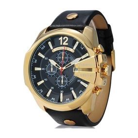 Relógio Masculino Curren 8176 Dourado Original Quartzo Luxo