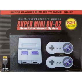 Console Super Mini Nitendinho Retrô 821 Jogos Memória Novo