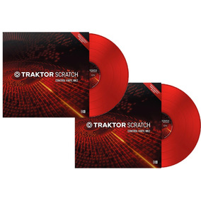 Traktor Scratch Time Code Vinyl Mk2-red-kit (02) Unidades