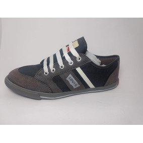 Tenis Levis Lv0031 Gris Choclo Casual