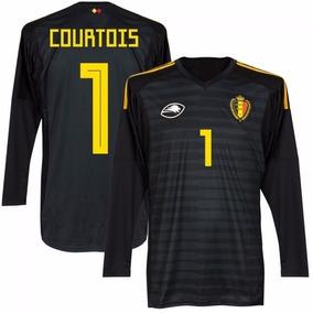 Uniforme Goleiro Bélgica Infantil Courtois - Personalizado 475929cb6b944