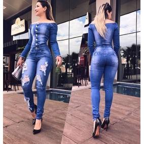 Macacão Jeans Fe Lu Enviamos Pronta Entrega **