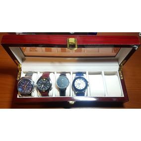 Caja Porta Relojes De Lujo Nuevo Importado En Madera Vino