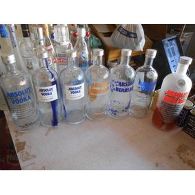 8 Garrafa Vodka Absolut Vazia Original